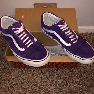 Purple suede Vans